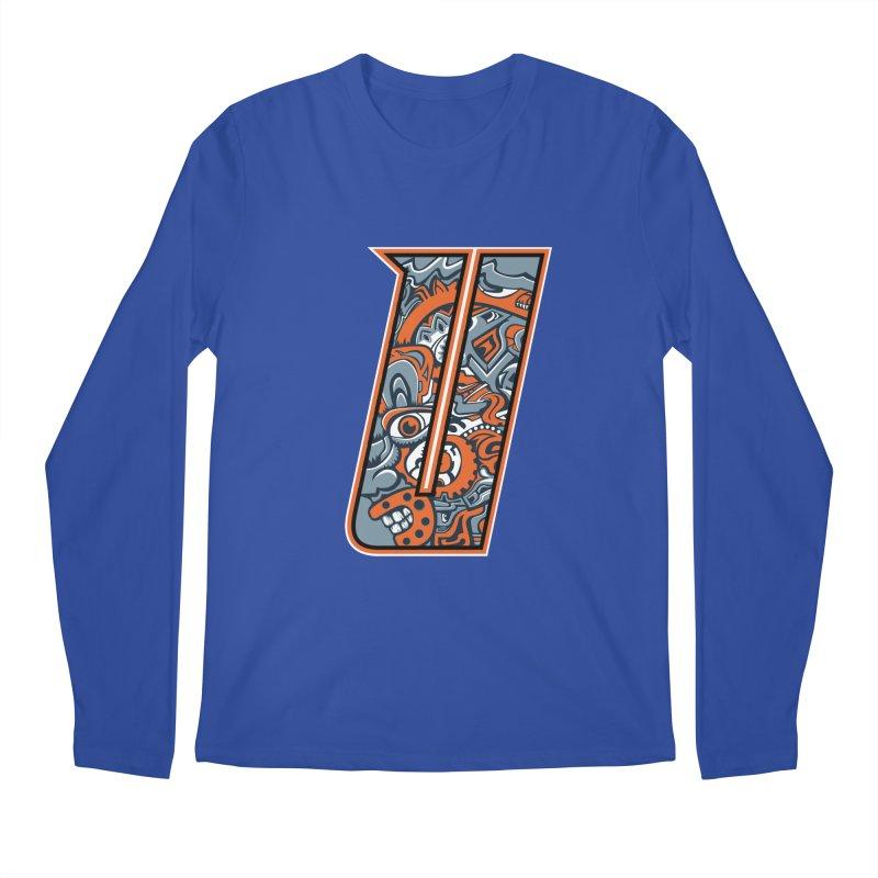Crazy Face_U002 Men's Regular Longsleeve T-Shirt by Art of Yaky Artist Shop