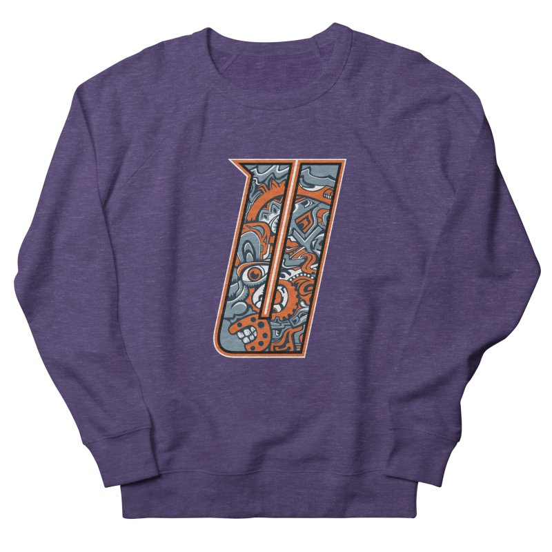 Crazy Face_U002 Women's French Terry Sweatshirt by Art of Yaky Artist Shop