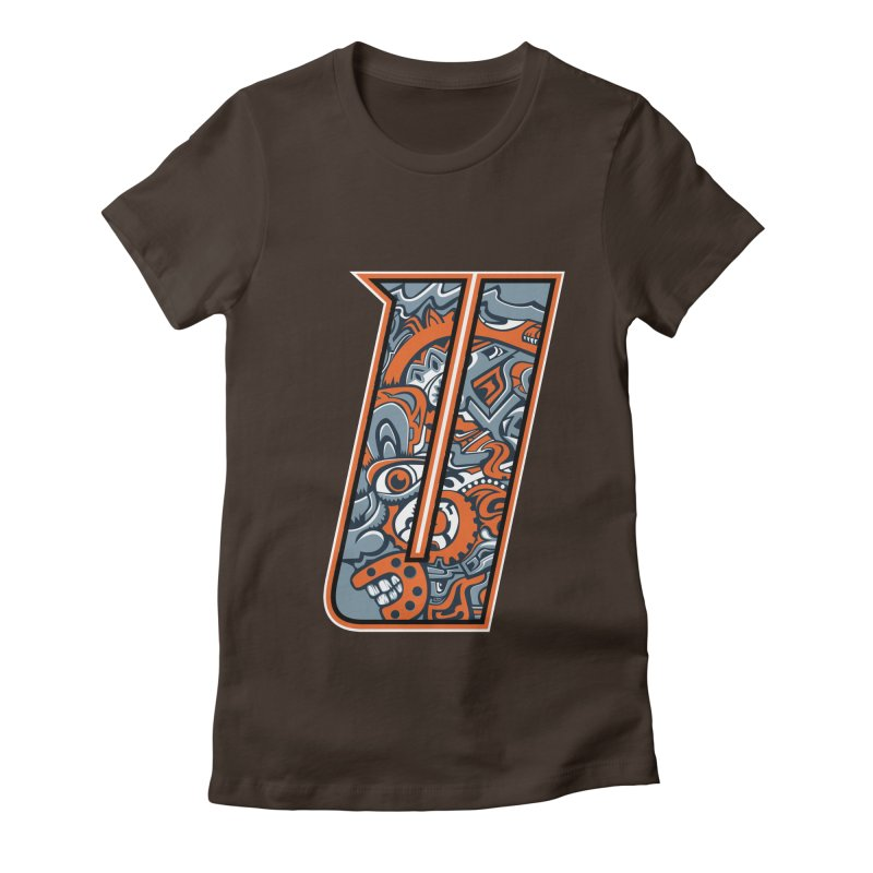 Crazy Face_U002 Women's Fitted T-Shirt by Art of Yaky Artist Shop