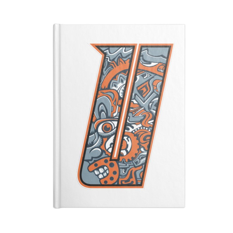 Crazy Face_U002 Accessories Blank Journal Notebook by Art of Yaky Artist Shop