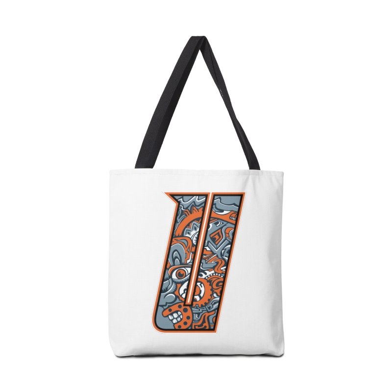 Crazy Face_U002 Accessories Tote Bag Bag by Art of Yaky Artist Shop