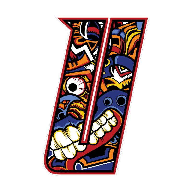 Crazy Face Alphabet (U) Accessories Skateboard by Yaky's Customs