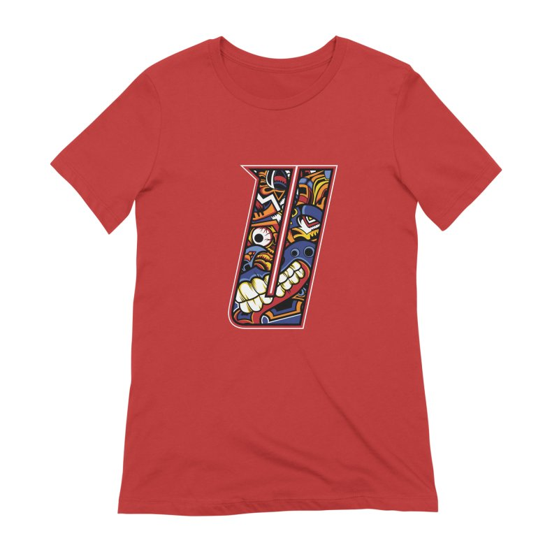 Crazy Face_U003 Women's Extra Soft T-Shirt by Art of Yaky Artist Shop