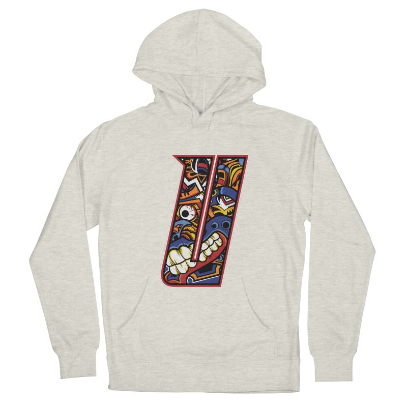 Crazy Face_U003 Men's French Terry Pullover Hoody by Art of Yaky Artist Shop