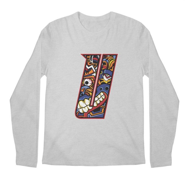 Crazy Face_U003 Men's Regular Longsleeve T-Shirt by Art of Yaky Artist Shop