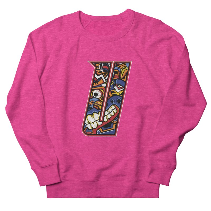Crazy Face_U003 Women's French Terry Sweatshirt by Art of Yaky Artist Shop