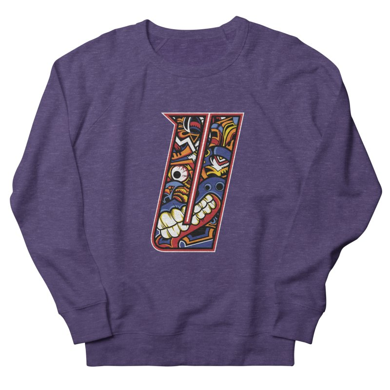 Crazy Face_U003 Men's French Terry Sweatshirt by Art of Yaky Artist Shop