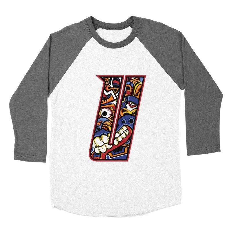 Crazy Face_U003 Women's Baseball Triblend Longsleeve T-Shirt by Art of Yaky Artist Shop