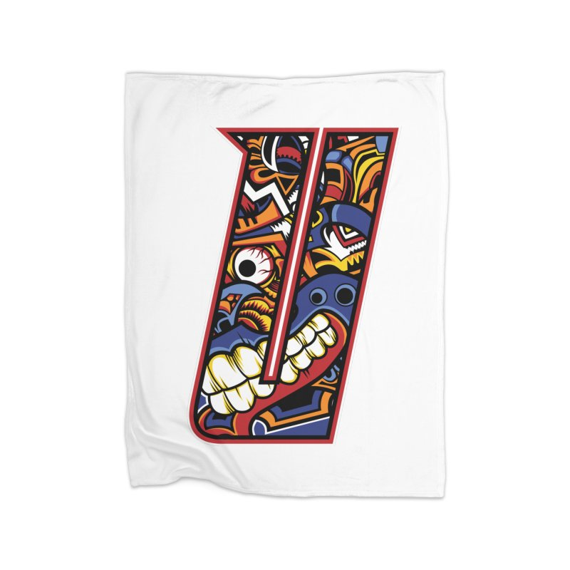 Crazy Face Alphabet (U) Home Blanket by Yaky's Customs
