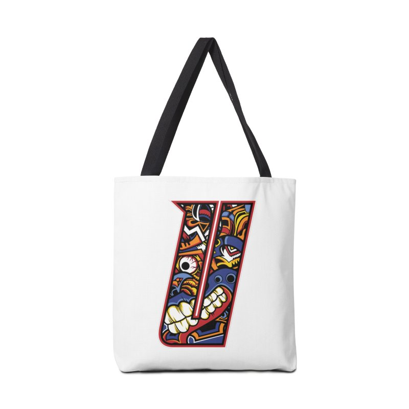Crazy Face_U003 Accessories Tote Bag Bag by Art of Yaky Artist Shop