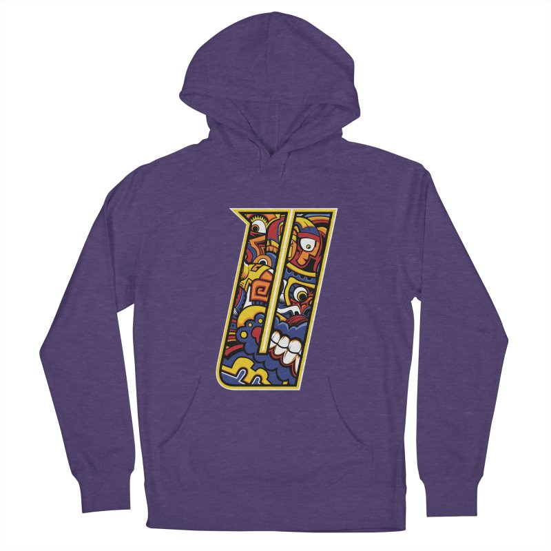 Crazy Face_U004 Women's French Terry Pullover Hoody by Art of Yaky Artist Shop