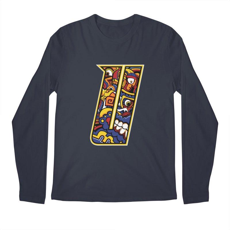 Crazy Face_U004 Men's Regular Longsleeve T-Shirt by Art of Yaky Artist Shop