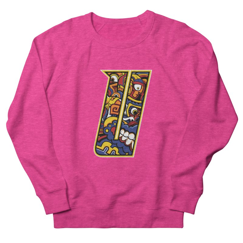 Crazy Face_U004 Men's French Terry Sweatshirt by Art of Yaky Artist Shop