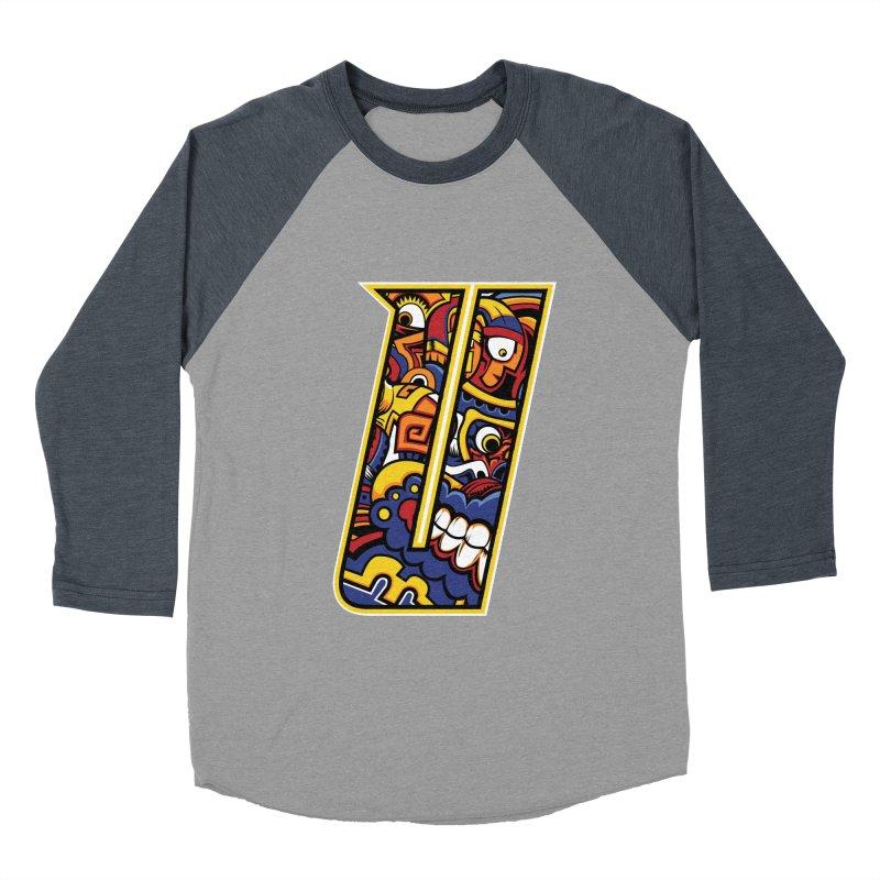 Crazy Face_U004 Women's Baseball Triblend Longsleeve T-Shirt by Art of Yaky Artist Shop