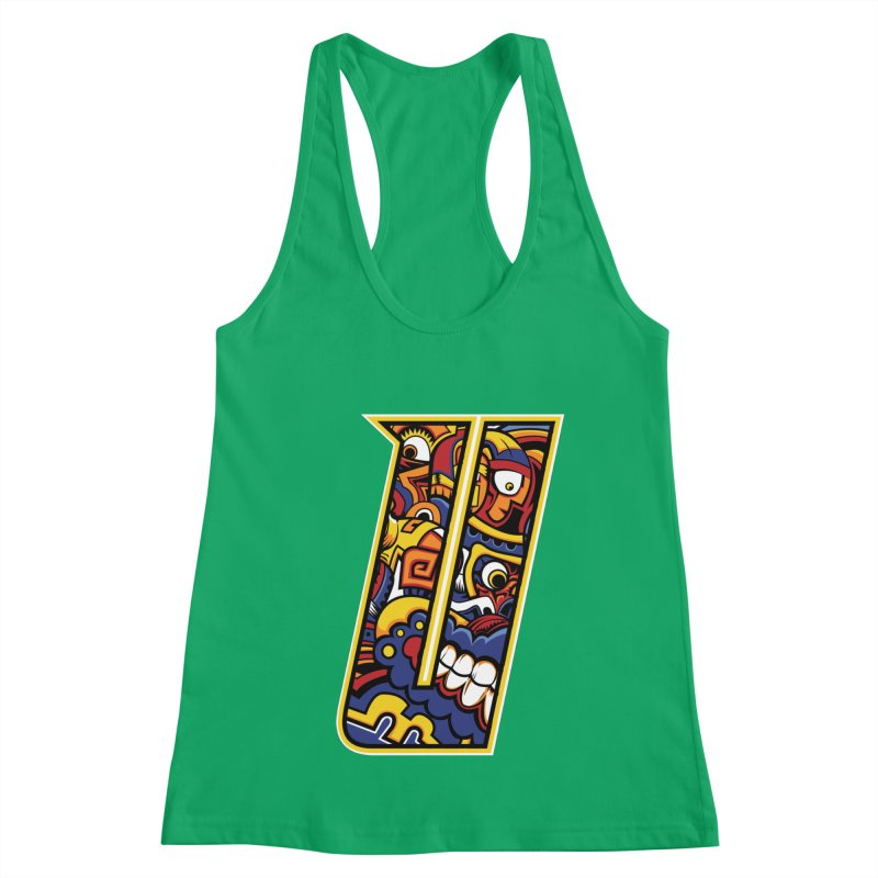 Crazy Face_U004 Women's Tank by Art of Yaky Artist Shop