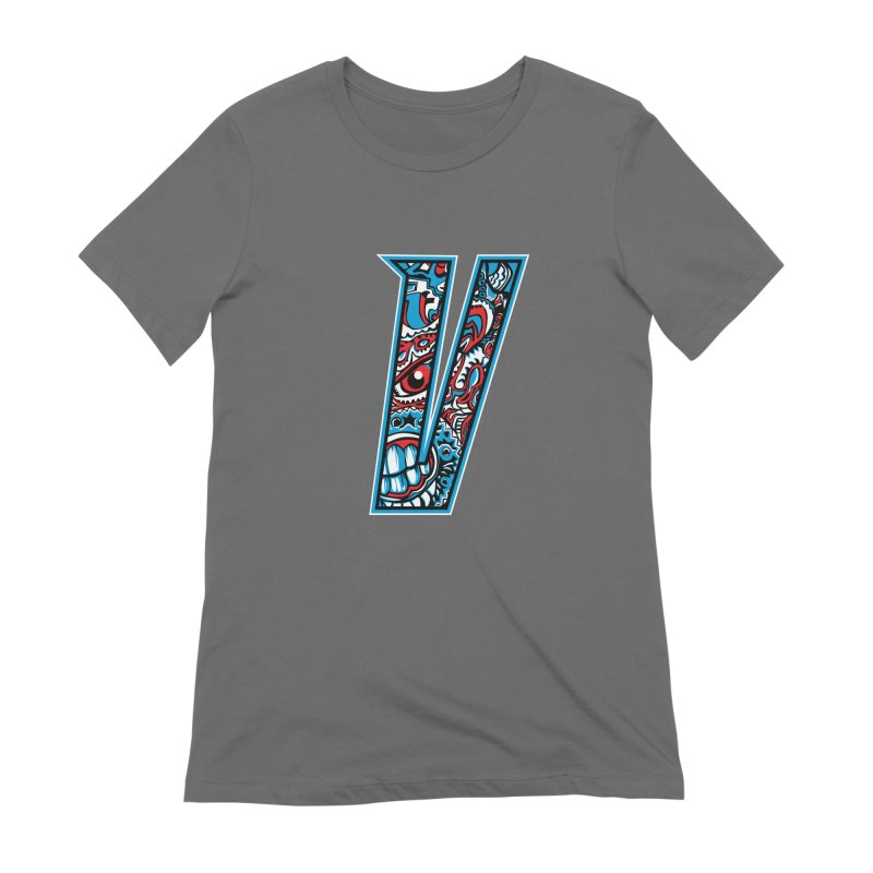 Crazy Face_V001 Women's Extra Soft T-Shirt by Art of Yaky Artist Shop