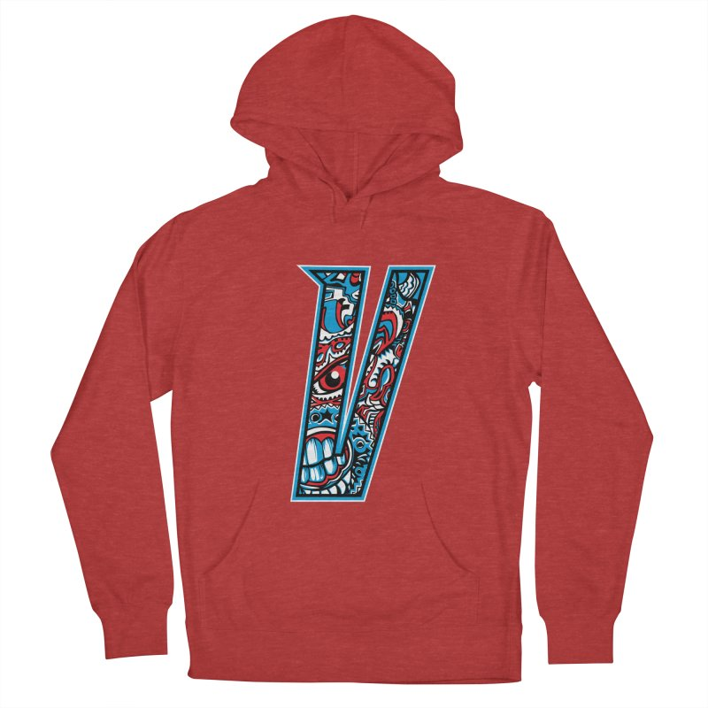 Crazy Face_V001 Women's French Terry Pullover Hoody by Art of Yaky Artist Shop