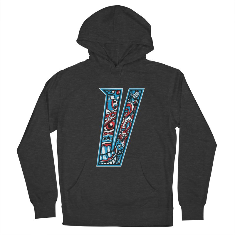 Crazy Face_V001 Men's French Terry Pullover Hoody by Art of Yaky Artist Shop