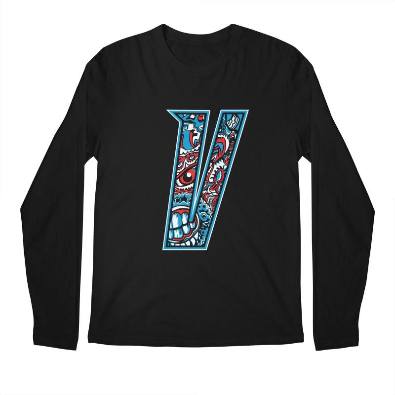 Crazy Face_V001 Men's Regular Longsleeve T-Shirt by Art of Yaky Artist Shop