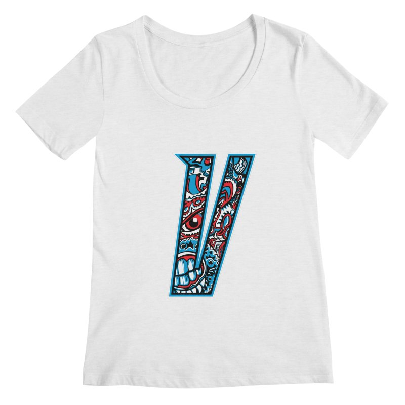 Crazy Face_V001 Women's Regular Scoop Neck by Art of Yaky Artist Shop