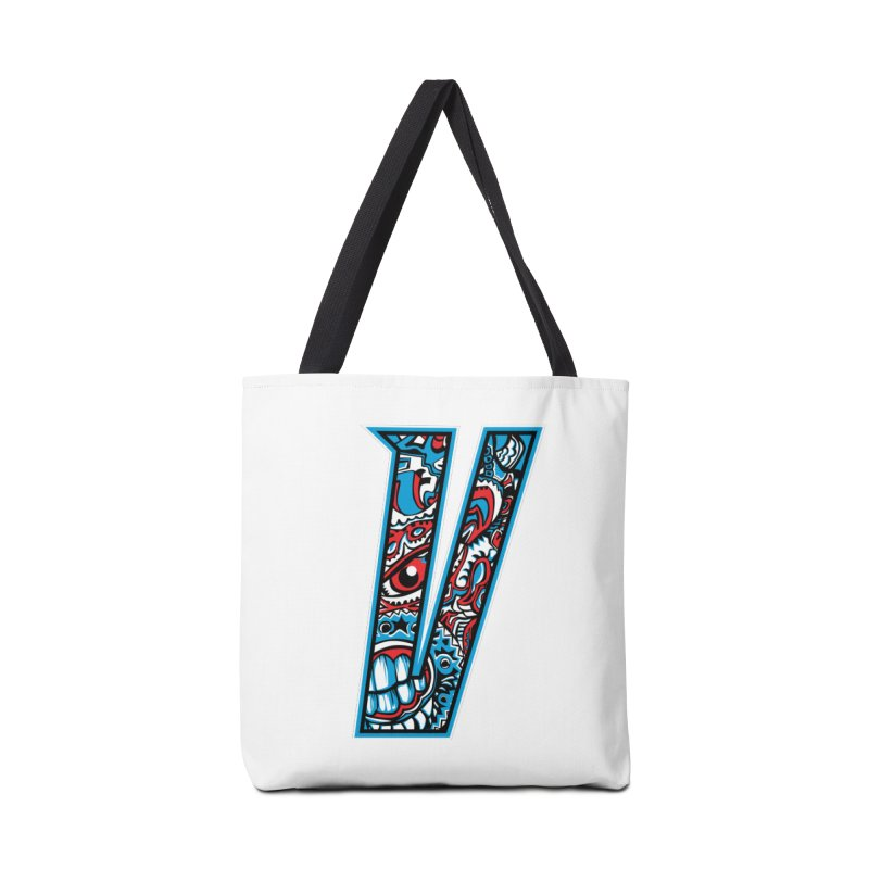 Crazy Face_V001 Accessories Tote Bag Bag by Art of Yaky Artist Shop