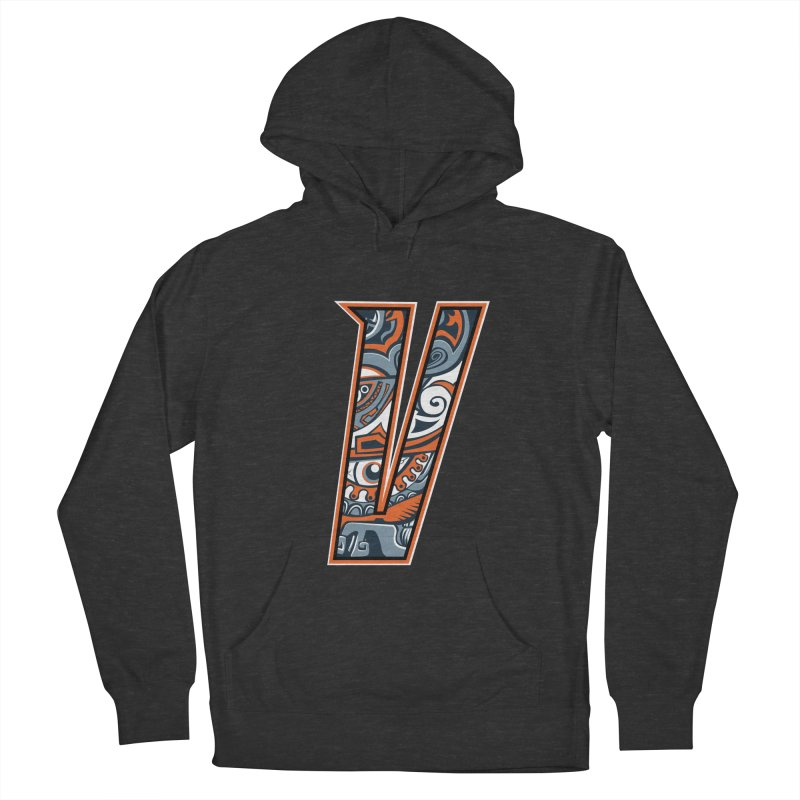 Crazy Face_V002 Women's French Terry Pullover Hoody by Art of Yaky Artist Shop