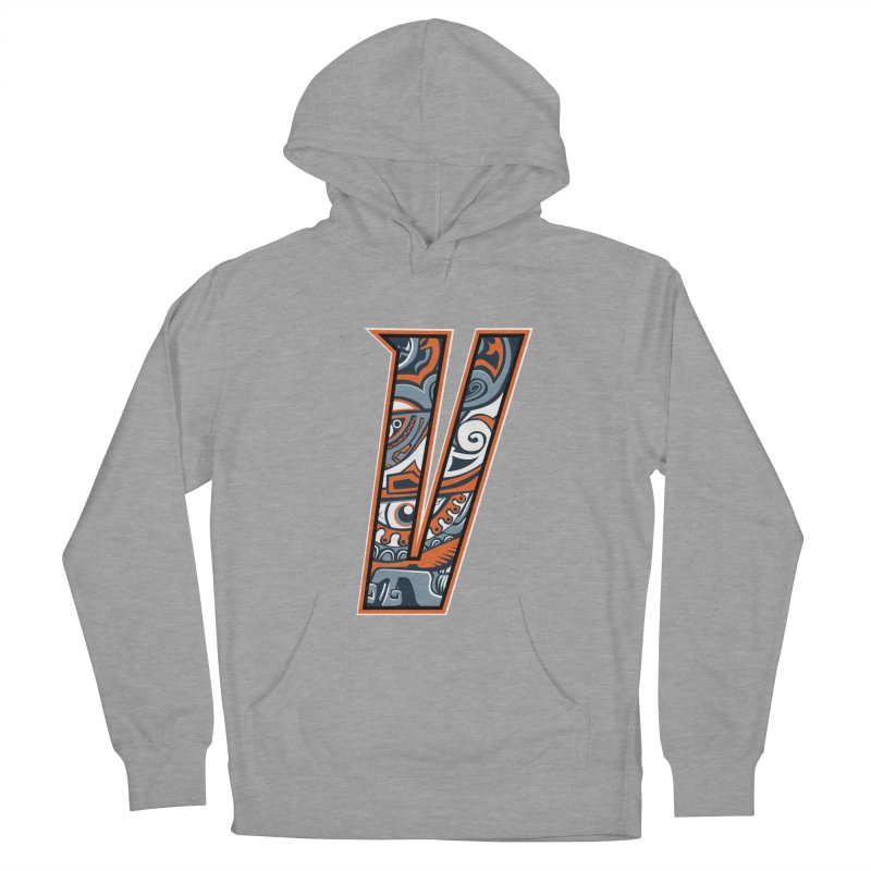 Crazy Face_V002 Men's French Terry Pullover Hoody by Art of Yaky Artist Shop