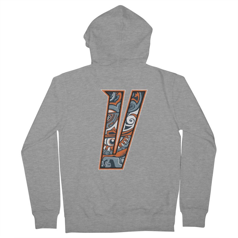 Crazy Face_V002 Women's French Terry Zip-Up Hoody by Art of Yaky Artist Shop