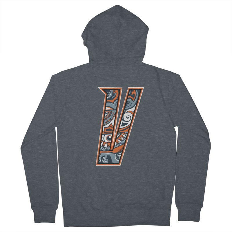 Crazy Face_V002 Men's French Terry Zip-Up Hoody by Art of Yaky Artist Shop
