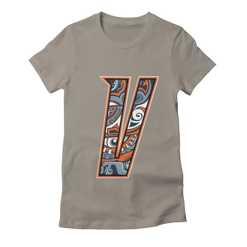 Crazy Face_V002 Women's Fitted T-Shirt by Art of Yaky Artist Shop