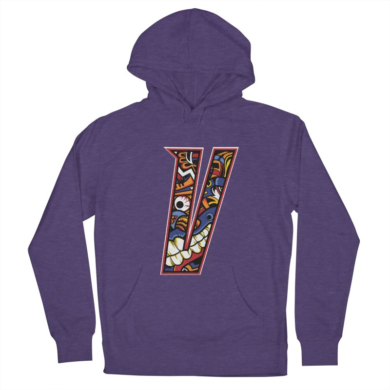 Crazy Face_V003 Women's French Terry Pullover Hoody by Art of Yaky Artist Shop