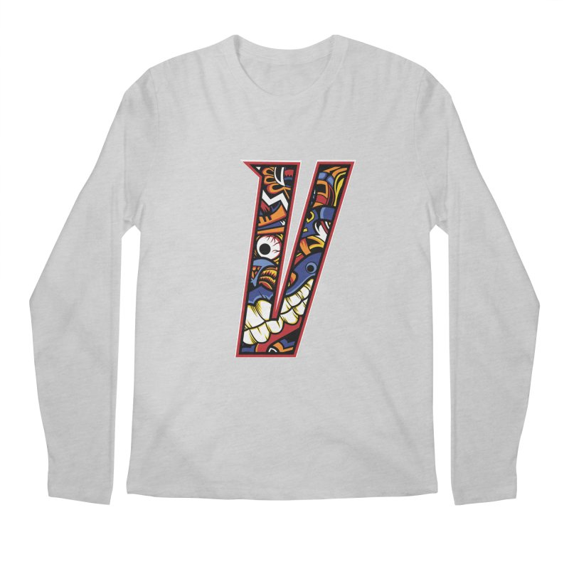 Crazy Face_V003 Men's Regular Longsleeve T-Shirt by Art of Yaky Artist Shop