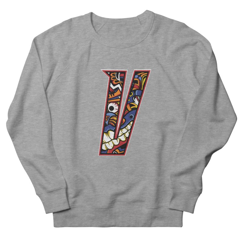 Crazy Face_V003 Women's French Terry Sweatshirt by Art of Yaky Artist Shop