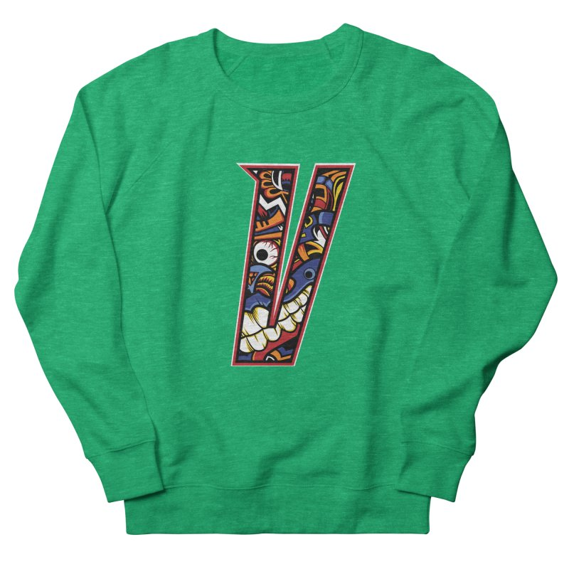 Crazy Face_V003 Men's French Terry Sweatshirt by Art of Yaky Artist Shop