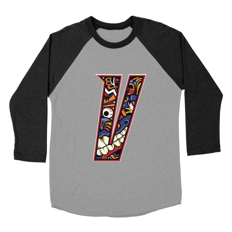 Crazy Face_V003 Women's Baseball Triblend Longsleeve T-Shirt by Art of Yaky Artist Shop