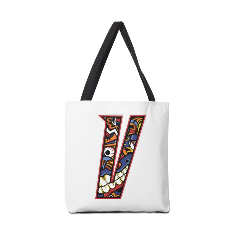 Crazy Face_V003 Accessories Tote Bag Bag by Art of Yaky Artist Shop