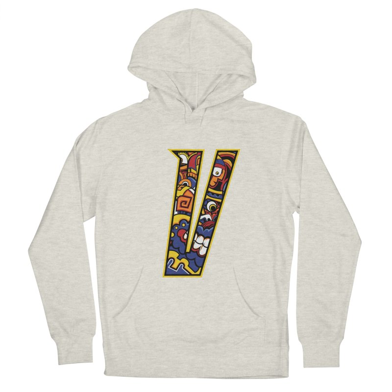Crazy Face_V004 Women's French Terry Pullover Hoody by Art of Yaky Artist Shop