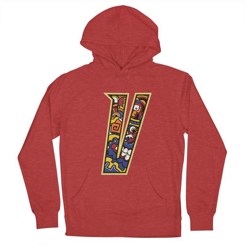Crazy Face_V004 Men's French Terry Pullover Hoody by Art of Yaky Artist Shop