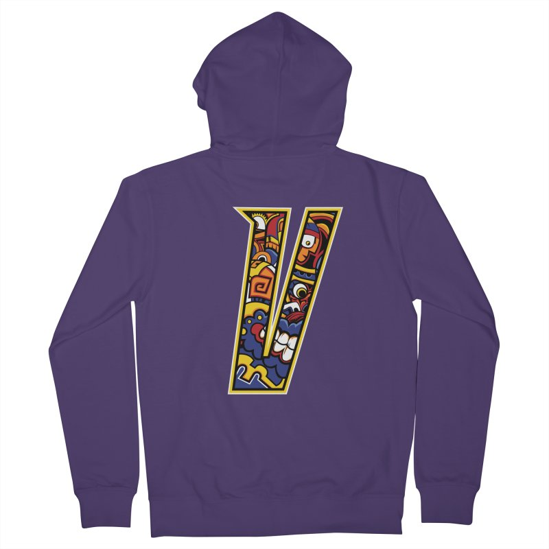 Crazy Face_V004 Women's French Terry Zip-Up Hoody by Art of Yaky Artist Shop