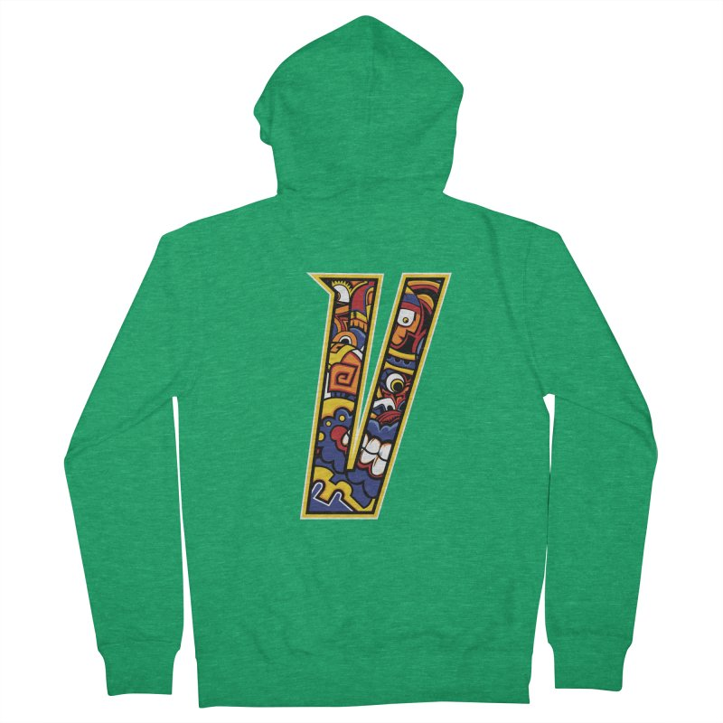Crazy Face_V004 Men's French Terry Zip-Up Hoody by Art of Yaky Artist Shop