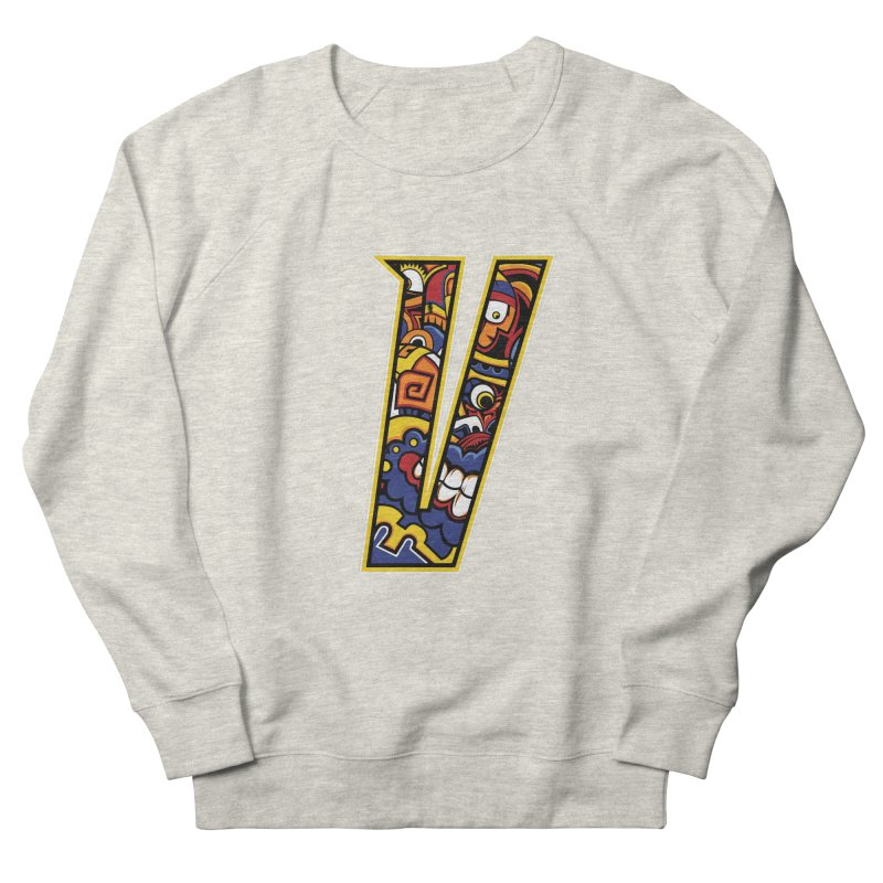 Crazy Face_V004 Women's French Terry Sweatshirt by Art of Yaky Artist Shop