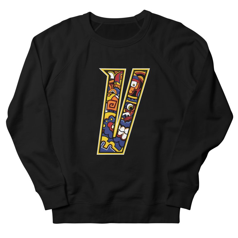 Crazy Face_V004 Men's French Terry Sweatshirt by Art of Yaky Artist Shop