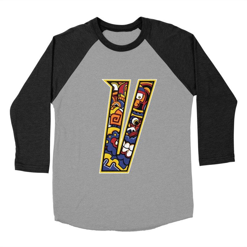 Crazy Face_V004 Women's Baseball Triblend Longsleeve T-Shirt by Art of Yaky Artist Shop