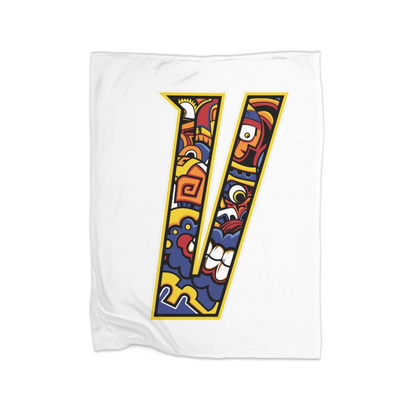 Crazy Face Alphabet (V) Home Blanket by Yaky's Customs