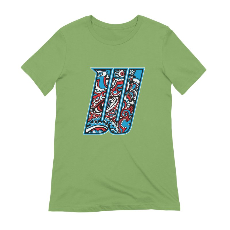 Crazy Face_W001 Women's Extra Soft T-Shirt by Art of Yaky Artist Shop
