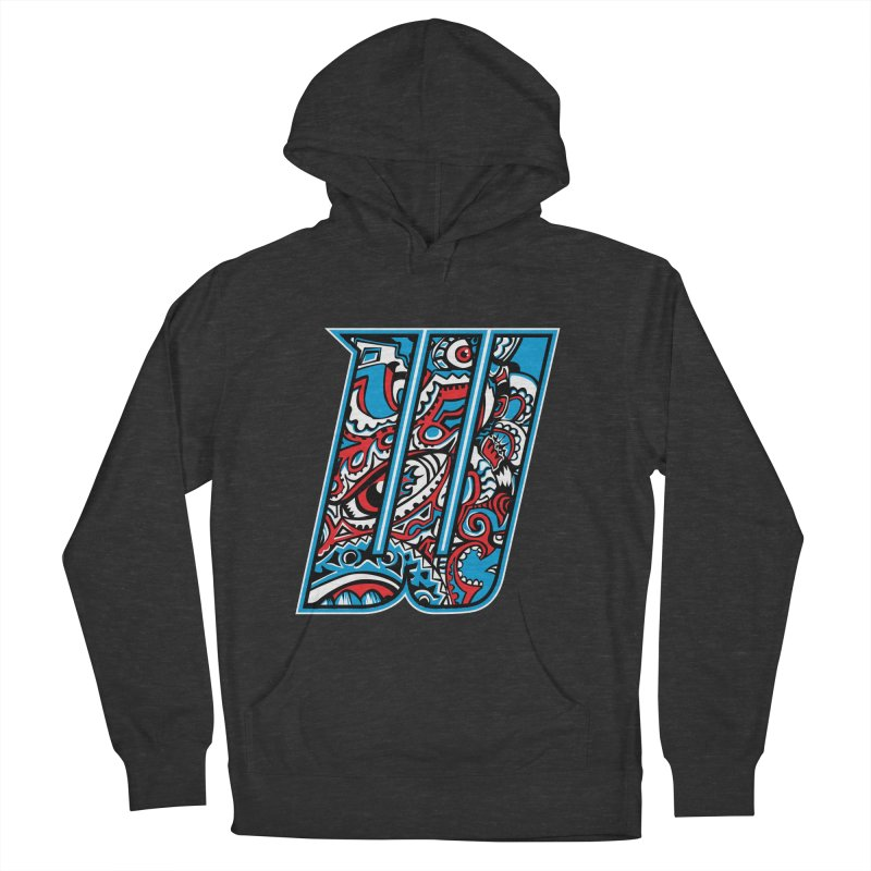 Crazy Face_W001 Men's French Terry Pullover Hoody by Art of Yaky Artist Shop