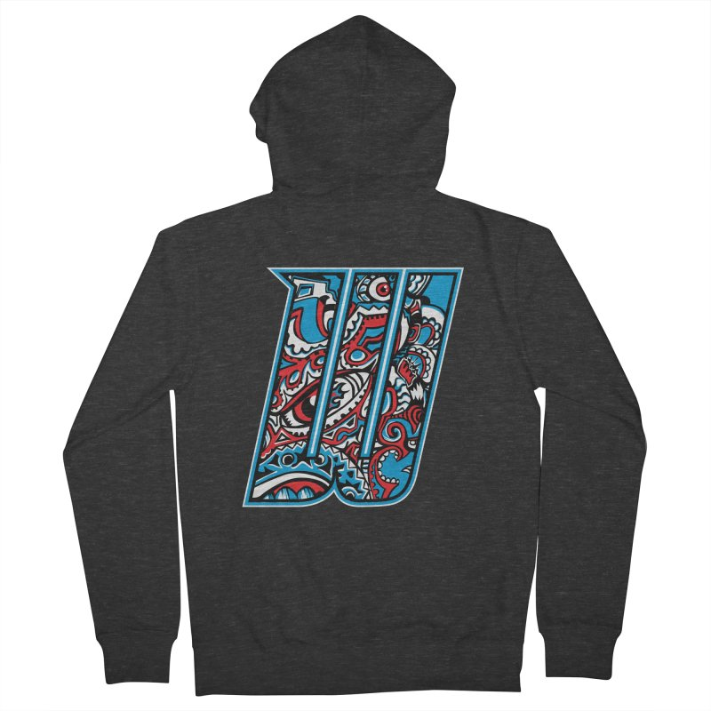 Crazy Face_W001 Women's French Terry Zip-Up Hoody by Art of Yaky Artist Shop
