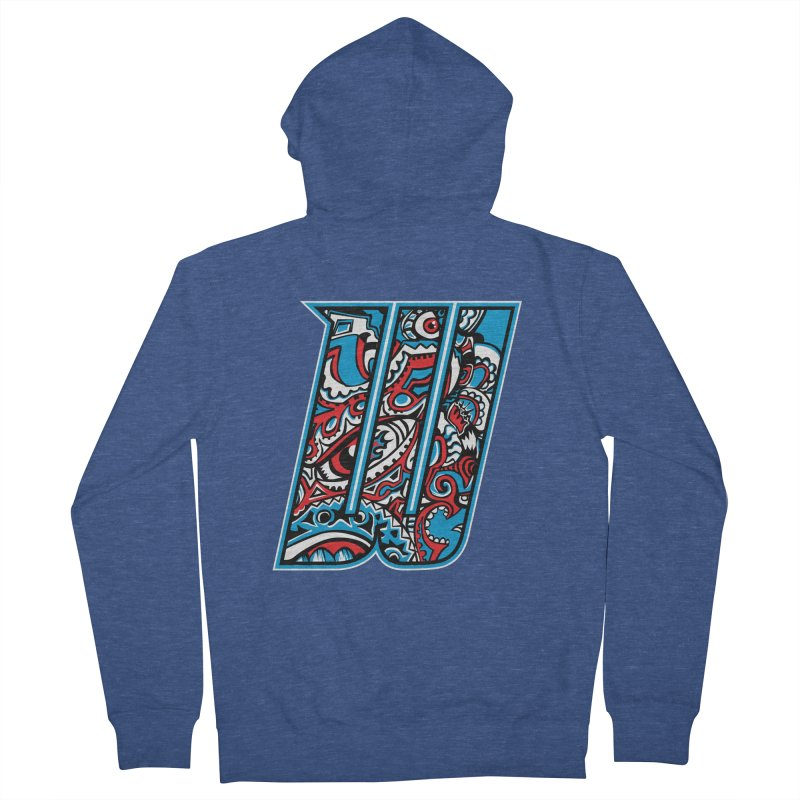 Crazy Face_W001 Men's French Terry Zip-Up Hoody by Art of Yaky Artist Shop