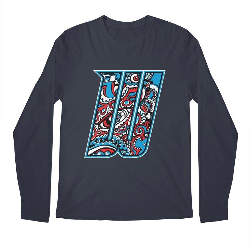 Crazy Face_W001 Men's Regular Longsleeve T-Shirt by Art of Yaky Artist Shop