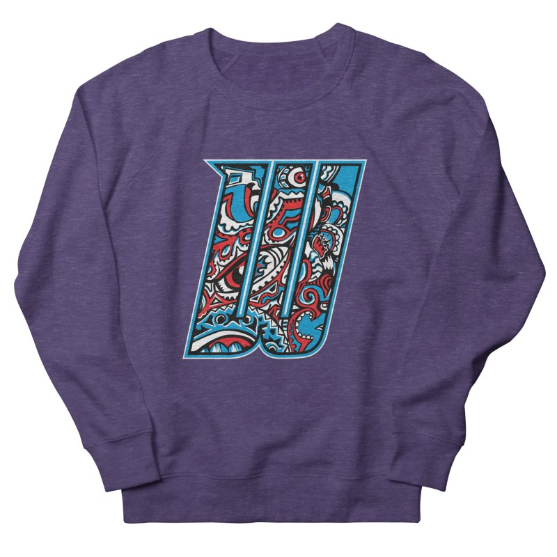 Crazy Face_W001 Women's French Terry Sweatshirt by Art of Yaky Artist Shop